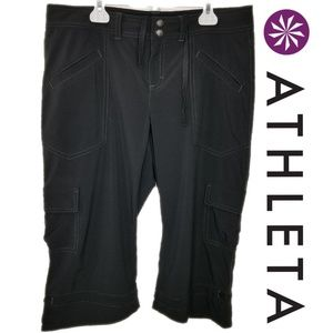 Athleta Low Rise Dipper Capri Cargo Pant Black 8